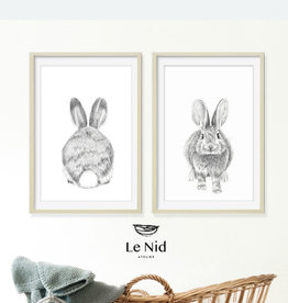 Le nid atelier Illustration - Two bunnies