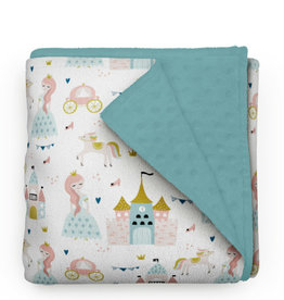 Olé Hop Minky Blanket -  Princess and castles