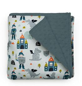 Olé Hop Minky Blanket -  Fantastic Knights