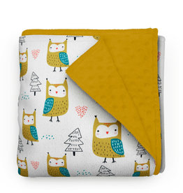 Olé Hop Minky Blanket -  Owls in the forest