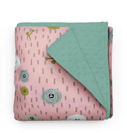 Olé Hop Minky Blanket -  Flower buttons
