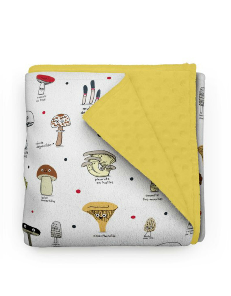 Olé Hop Minky Blanket -  Mushrooms Elise Gravel