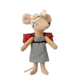 Maileg Hiking mouse with sleeping bag