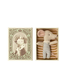 Maileg Baby mouse in a matchbox - Boy