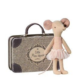 Maileg Ballerina Mouse with metallic suitcase