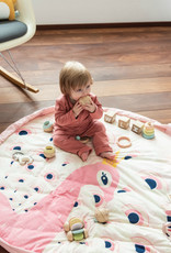 Play and Go Baby Play mat and Storage Bag - Pink Peacock