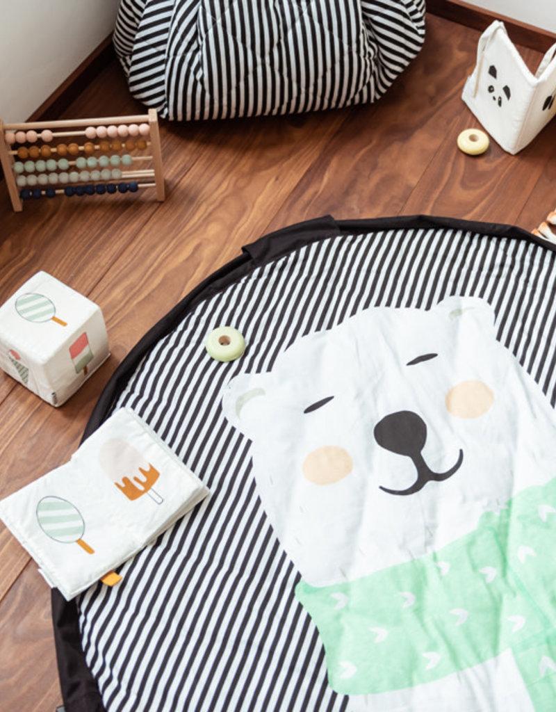 Tapis D Éveil Sac A Jouets play and go tapis pour bébé et sac de rangement - ours polaire
