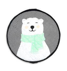 Play and Go Tapis pour bébé et Sac de rangement - Ours polaire