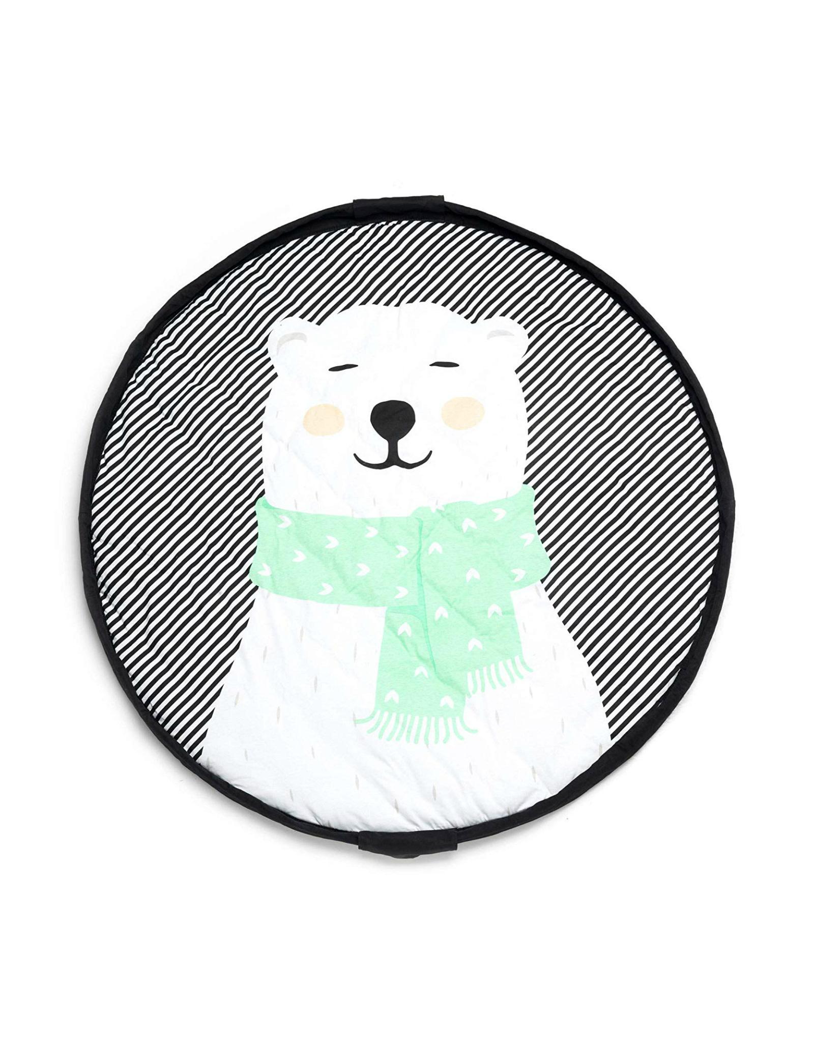 Tapis D Éveil Sac A Jouets tapis pour bébé et sac de rangement - ours polaire