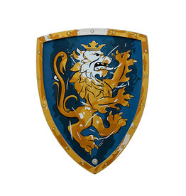Lion Touch Knight Shield - Blue and Gold