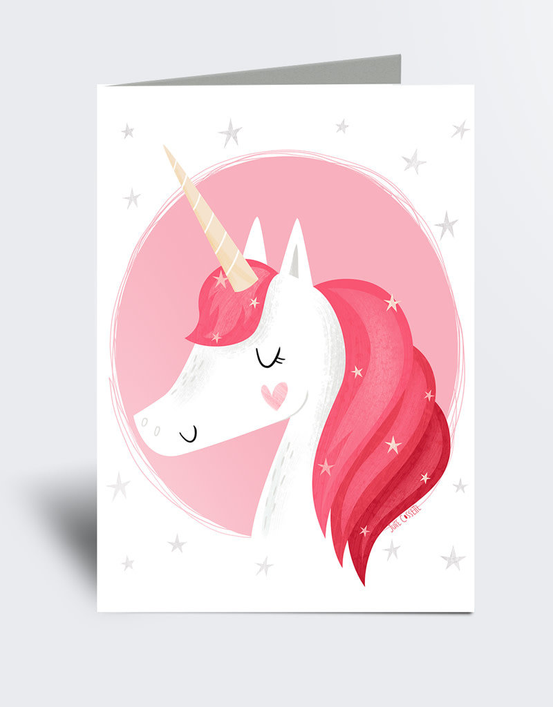 Julie Cossette Illustrations Carte de souhaits - Licorne