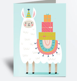 Julie Cossette Illustrations Carte de souhaits - Lama