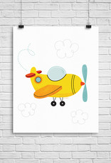 Julie Cossette Illustrations Illustration - Avion - 12 x 16