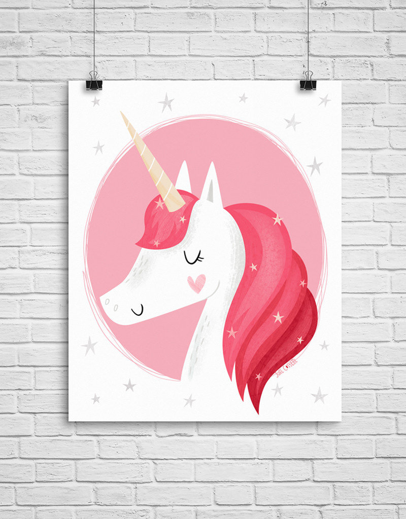Julie Cossette Illustrations Illustration - Licorne - 12 x 16