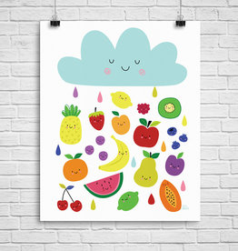 Julie Cossette Illustrations Illustration - Pluie de fruits - 12 x 16
