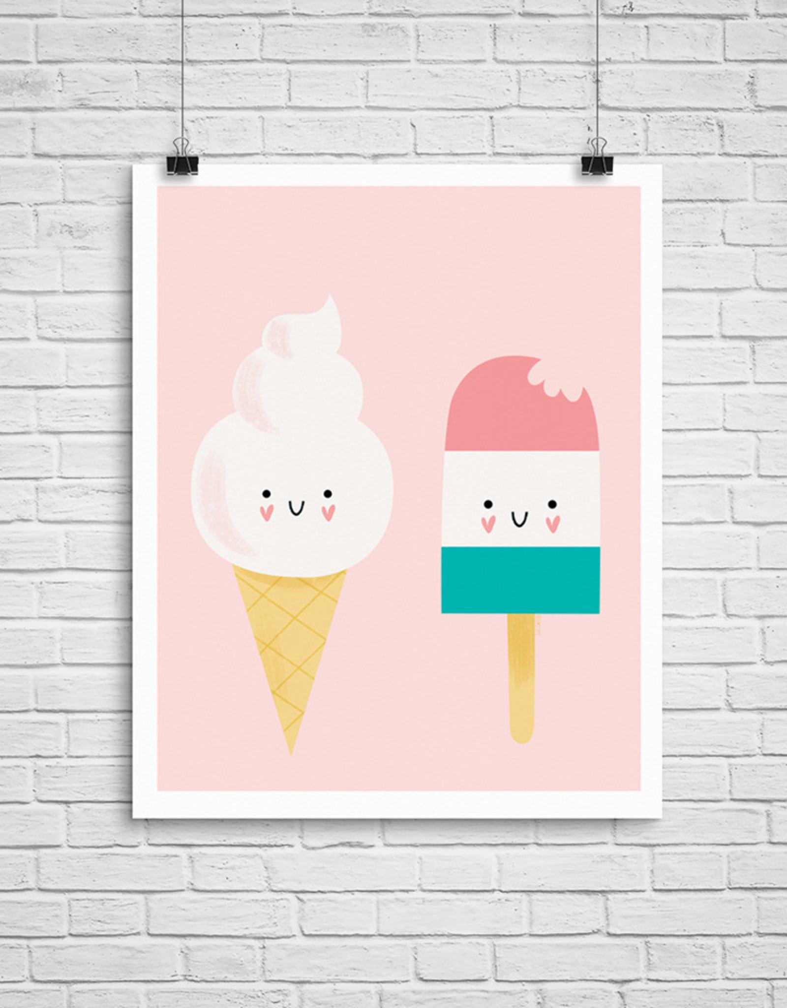 Julie Cossette Illustrations Illustration - Crème à glace - 12 x 16