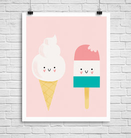 Julie Cossette Illustrations Illustration - Crème à glace - 12 x 16