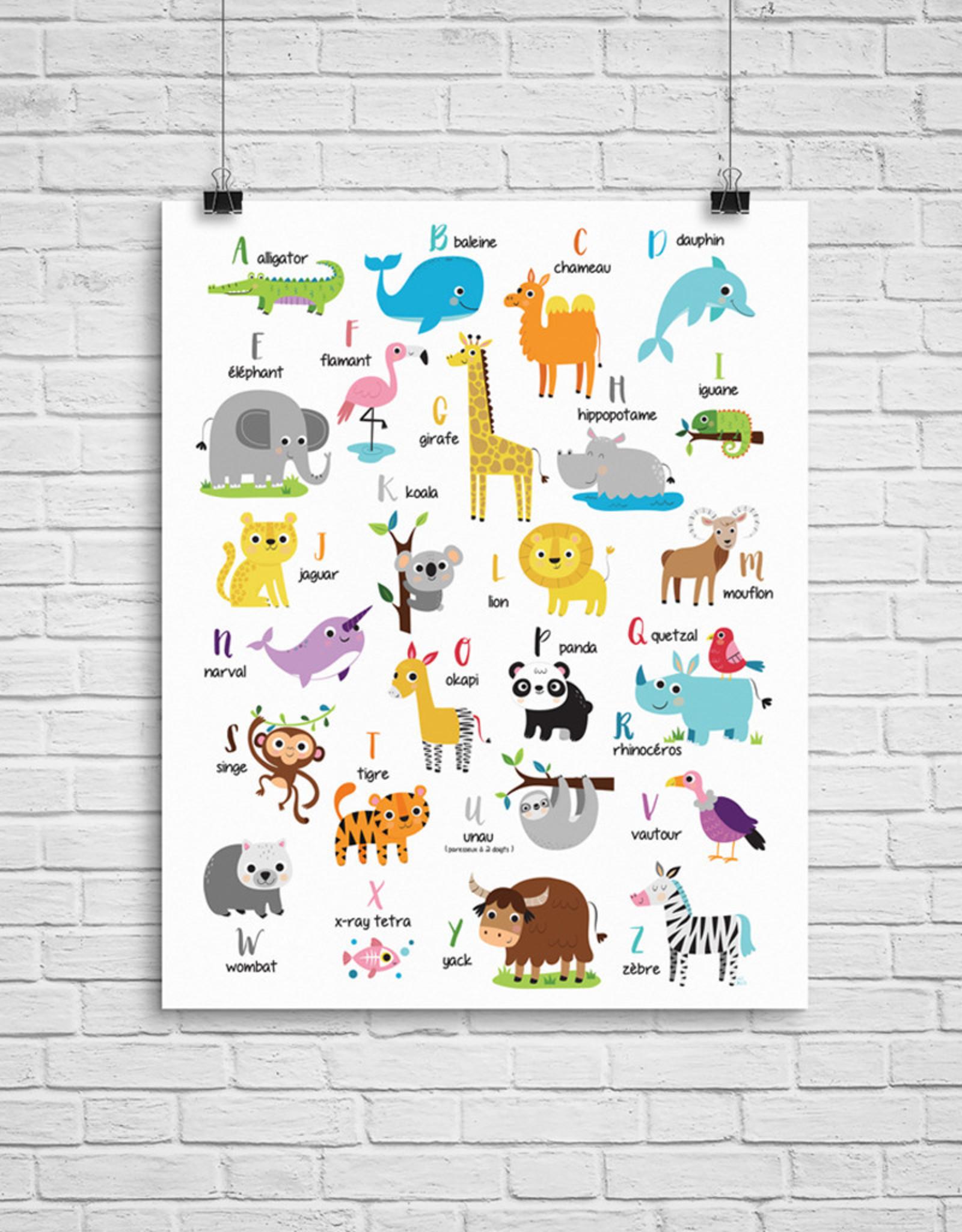 Julie Cossette Illustrations Illustration - ABCdaire des animaux - 12 x 16