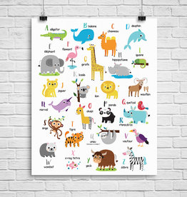 Julie Cossette Illustrations Illustration - ABCdaire des animaux - 12 x 16