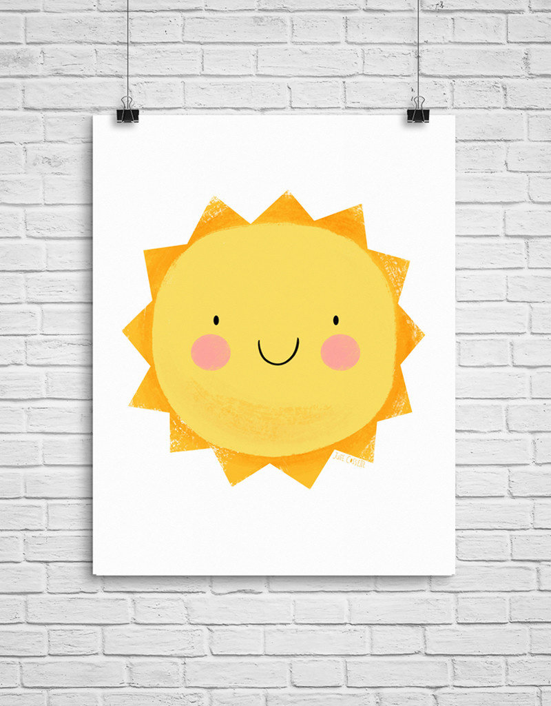 Julie Cossette Illustrations Illustration - Soleil heureux - 12 x 16