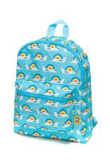 Petit Monkey Backpack - Plane and rainbow