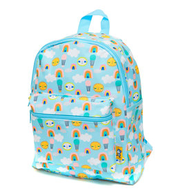 Petit Monkey Backpack - Hot air ballons blue