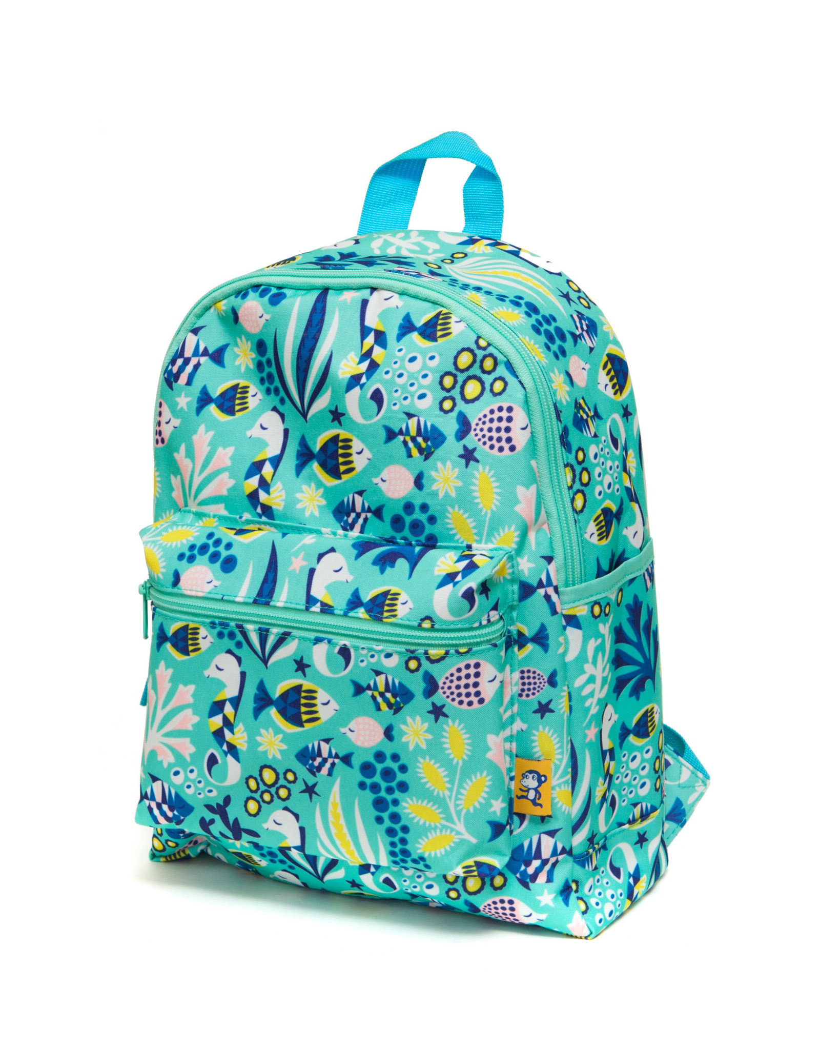 Petit Monkey Backpack - Under the sea green