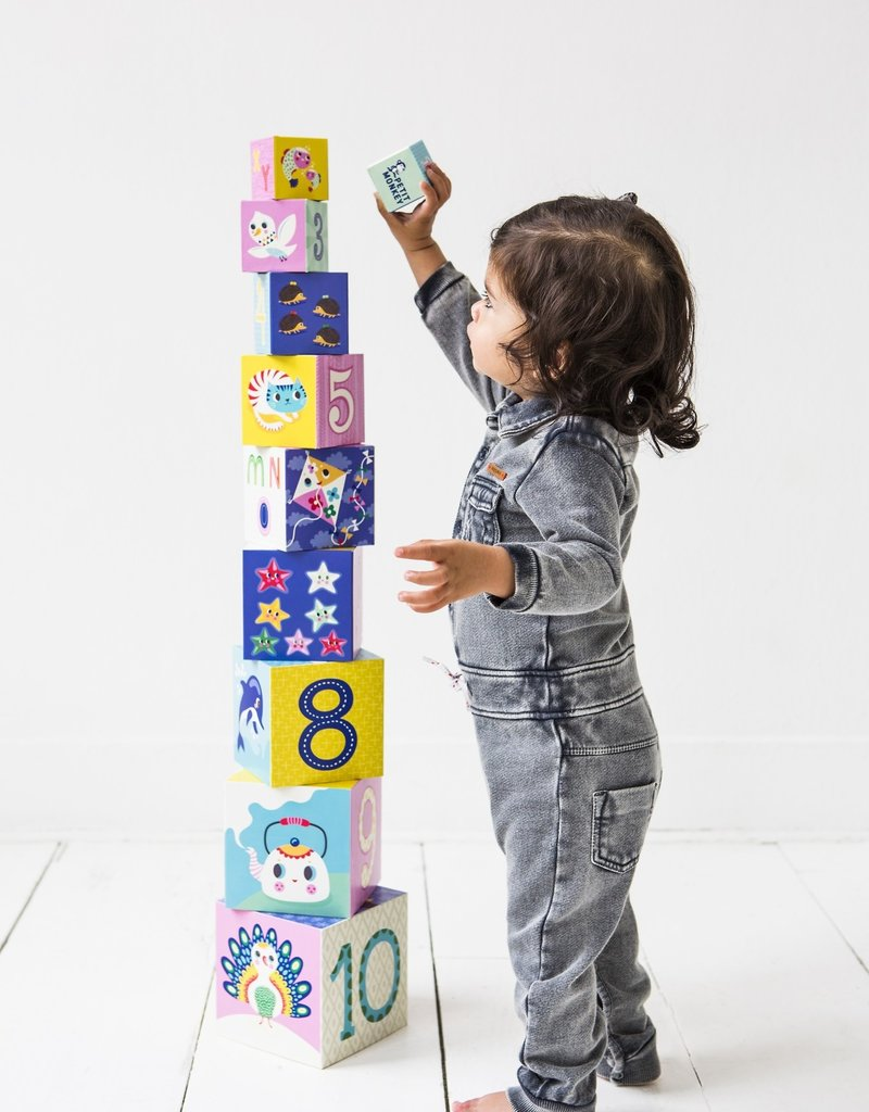 Petit Monkey 10 Stacking Blocks