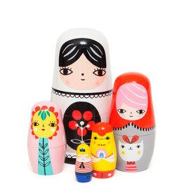 Petit Monkey Nesting dolls