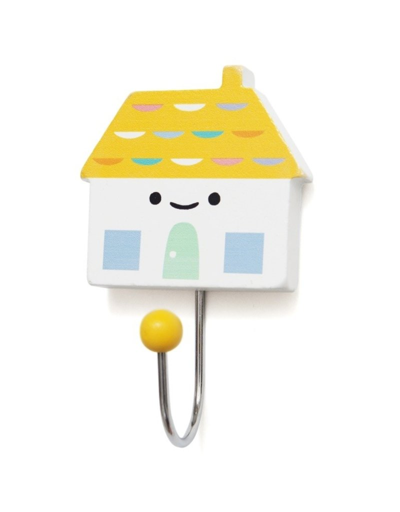 Petit Monkey Crochet décoratif - Petite maison jaune