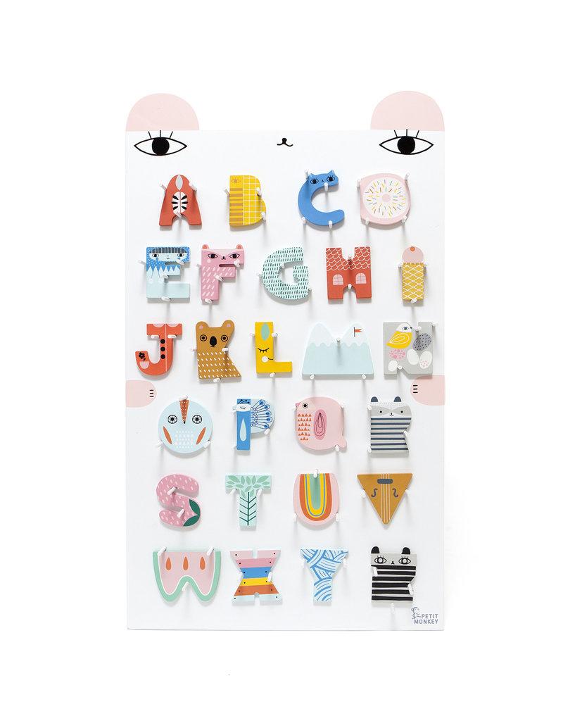 Petit Monkey Lettres d'alphabet décoratives