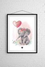 Zack et Livia Illustration - Éléphant rose