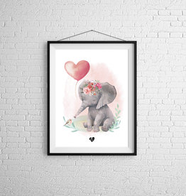 Zack et Livia Illustration - Pink elephant