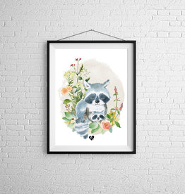 Zack et Livia Illustration - Raccoon and his baby