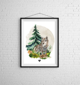 Zack et Livia Illustration - Loup