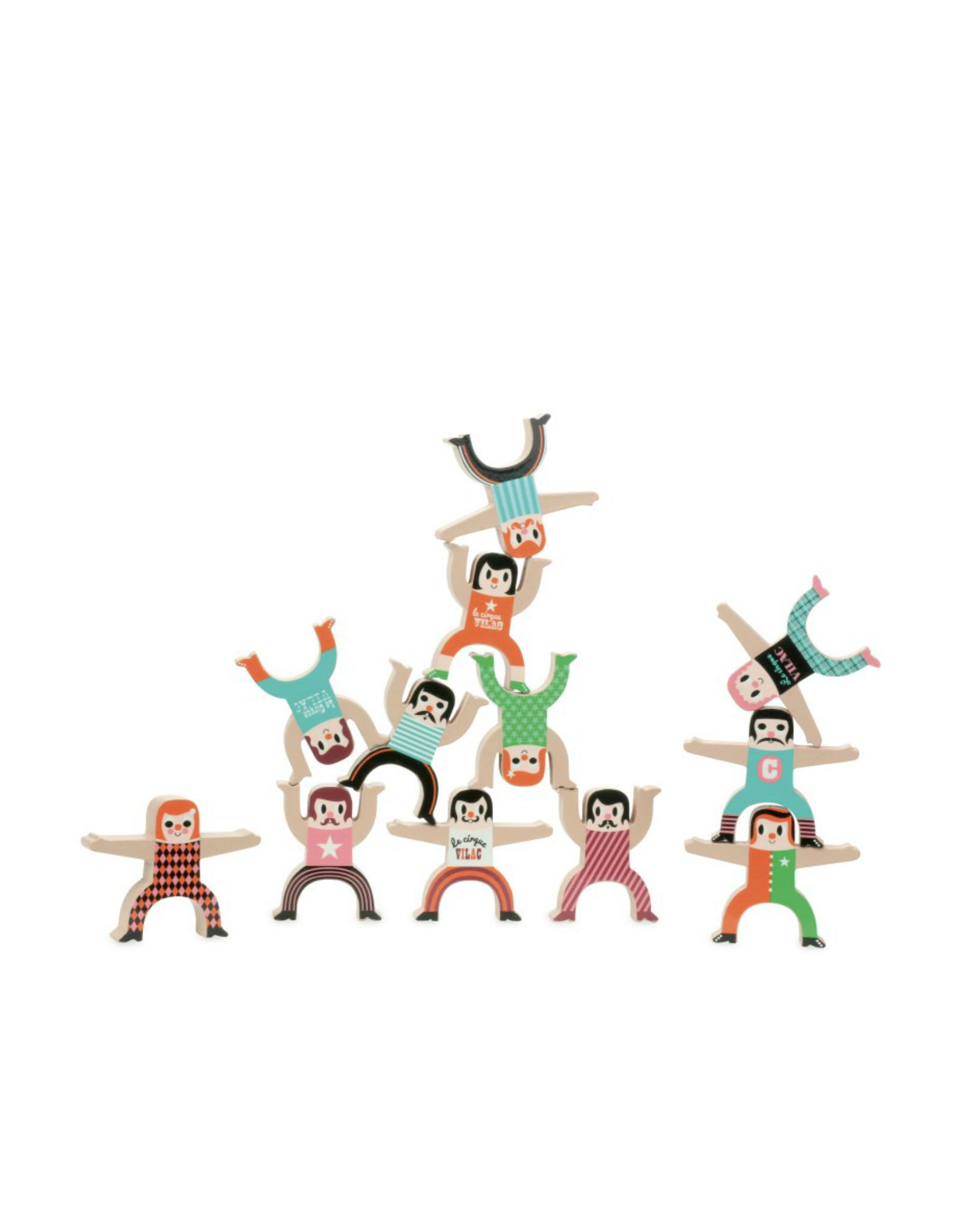 Vilac Jeu d'équilibre en bois - Les acrobates