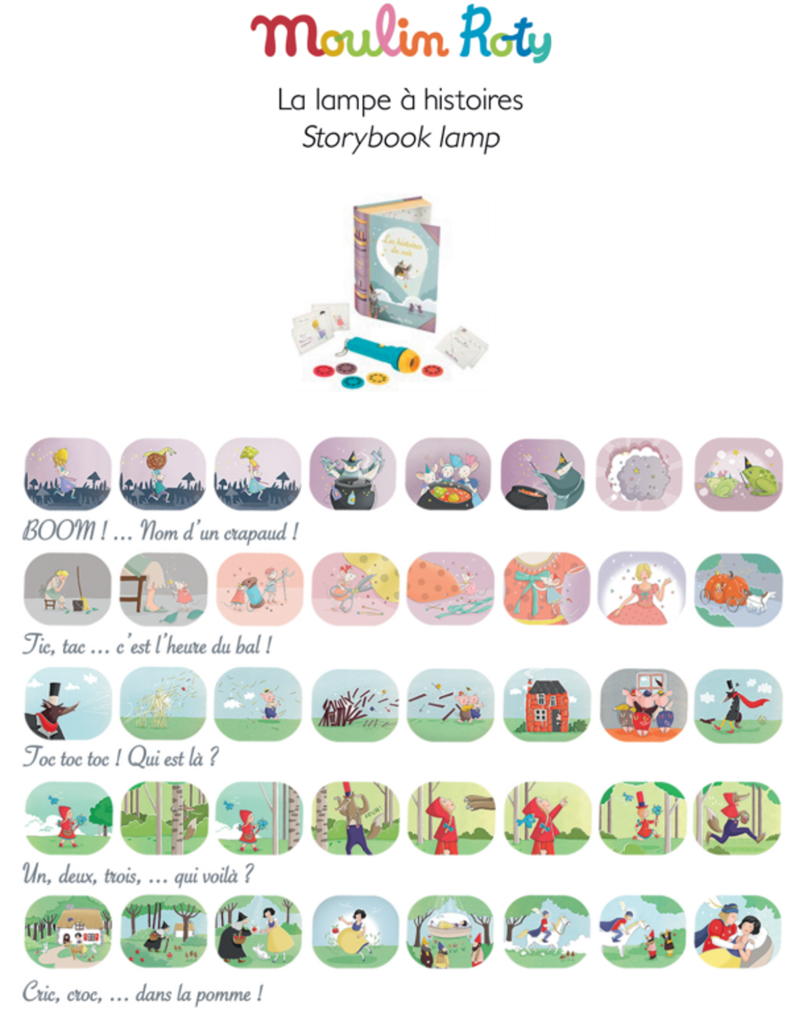 Moulin Roty Storybook Torch Set - Good night stories