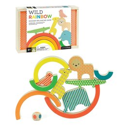 Petit Collage Wild rainbow - Balance wooden game