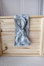 Belle des bois Bandeau à nouer en tissu - Bleu/Gris