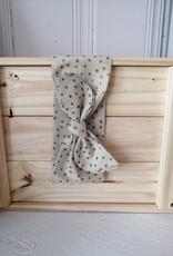Belle des bois Bandeau à nouer en tissu - Picots sur fond beige
