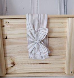 Belle des bois Bandeau à nouer en tissu - Ligné beige