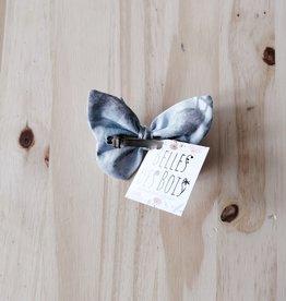 Belle des bois Barette Papillon en métal : Bleu/Gris