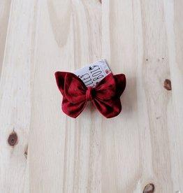 Belle des bois Barette Papillon en métal : Rouge