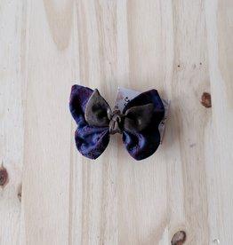 Belle des bois Barette Papillon en métal : Bleu Marin et bronze