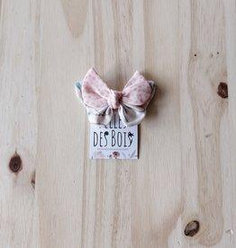 Belle des bois Boucle sur mini-clip : rose