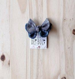 Belle des bois Boucle sur mini-clip : Bleu