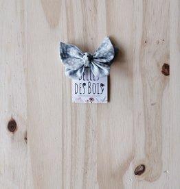 Belle des bois Boucle sur mini-clip : Bleu pâle et gris