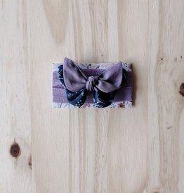 Belle des bois Bandeau/Élastique avec Petit papillon : Mauve et bleu