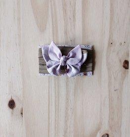 Belle des bois Bandeau/Élastique avec Petit papillon : Lilas et bronze
