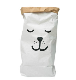 Tellkiddo Sac de rangement en papier robuste - Ours endormi